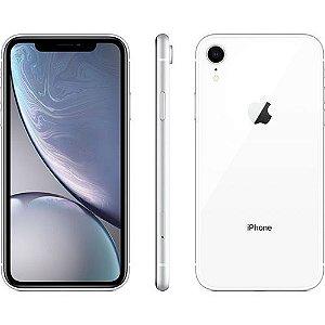 "iPhone XR Apple 128GB Branco 4G Tela 6,1"" Retina Câmera 12MP + Selfie 7MP iOS12 Proc. Chip A12"