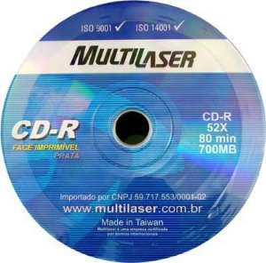 MIDIA DE CD MULTILASER 80 MIN /700MB