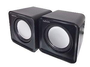 Caixa de Som 5w Para Computador e Smartphone Cs-32 Preto - Exbom