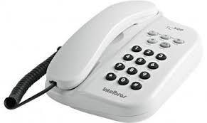 TELEFONE COM FIO TC 500 BRANCO C/ CHAVE  INTELBRÁS