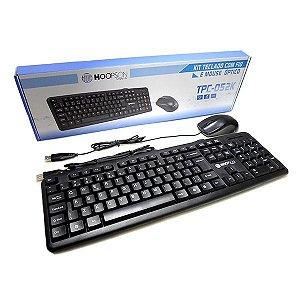 Kit Teclado Mouse Tpc-052k Com Fio Usb - Hoopson