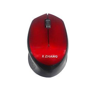 Mouse Sem Fio Xz2808 Vermelho - X Zhang