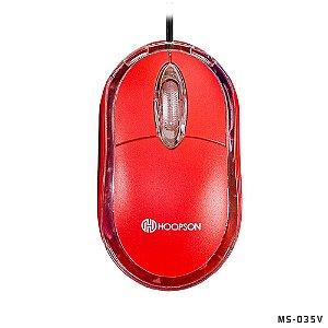 Mouse Usb Óptico Ms-035 Vermelho - Hoopson