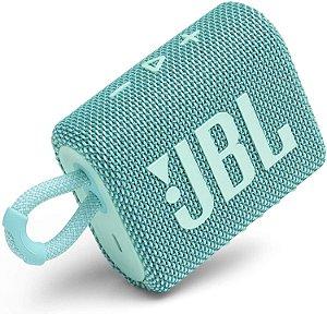 Caixa de Som JBL GO 3 Renda  Bluetooth à Prova D'água Teal