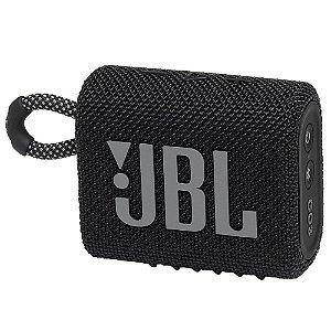 Caixa de Som JBL GO 3 Bluetooth à Prova D'água Preto