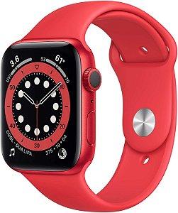 Apple Watch Series 6 Aluminum Case Red Sport Band 40mm (GPS) Com Oxinetro Pulseira Esportiva  (A2291)