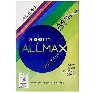 PAPEL ALLMAX  A4 BRANCO  (210 X 297 mm) c/ 500fls.