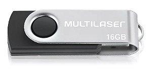 Pen Drive 16GB Twist Preto USB - Multilaser