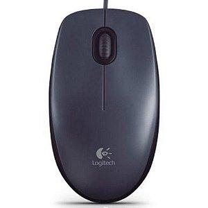 Mouse Óptico Usb M100 Com Resolusão de 1000DPI (910-001601) Preto - Logitech