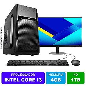 Microcomputador Completo Intel Core i3 3.0Ghz 4gb Ram HD 1TB Monitor 18,5 Polegadas Teclado e Mouse