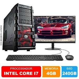 Microcomputador Completo Intel Core i7 3.9Ghz 4gb Ram HD 240GB SSD Monitor 18,5 Polegadas Teclado e Mouse