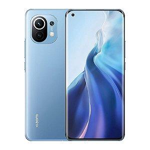 """Smartphone Xiaomi Mi 11 256GB 8GB Ram 5G Dual Sim Tela 6,81"""" Câmeras 108MP+13MP+5MP e 20MP (Horizon Blue) Azul"""
