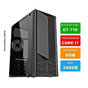 Microcomputador Gamer Intel Core i7 3.9Ghz 8gb Ram HD 240GB SSD + Placa de vídeos GT710
