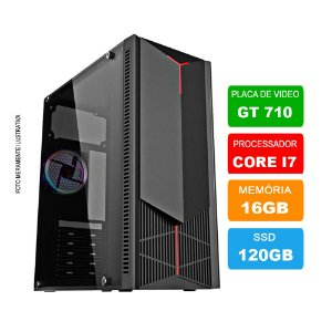 Microcomputador Gamer Intel Core i7 3.9Ghz 16gb Ram HD 120GB SSD + Placa de vídeos GT710