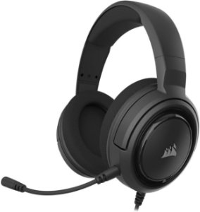 Headset HS45 7.1 Gaming Carbon com fio (CA-9011220-NA) - Corsair