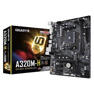 Placa Mãe Gigabyte A320m-h DDR4 Socket Am4 Chipset AMD A320