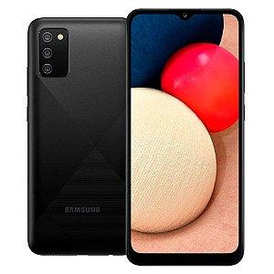 """Smartphone Galaxy A02s Preto, com Tela Infinita de 6,5"""", 4G, 32GB e Câmera Tripla de 13MP + 2MP + 2MP  (SM-A025MZKYZTO) Preto - Samsung"""