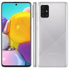 Smartphone Galaxy A71, 128GB, 64MP, Tela 6.7´, 6GB RAM (SM-A715) Prism Crush Silver- Samsung