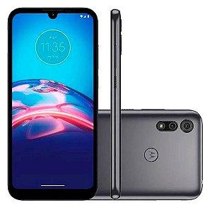 "Smartphone Moto E6i Octa Core / Cinza Titanium 32GB Tela 6.1"" 2GB RAM Câmera Dupla 13MP + 2MP - Motorola"