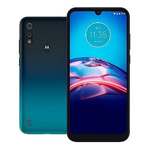 """Smartphone Moto E6S Azul Navy 64GB Tela 6.1"""" 2GB RAM Câmera Dupla 13MP + 2MP - Motorola"""