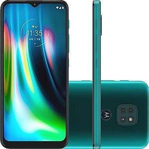 Smartphone Moto G9 Play Verde Turquesa Com Tela De 6,5, 4G, 64GB e Câmera De 48MP + 2MP + 2MP XT208 - Motorola
