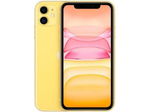 "IPhone 11, 64GB Amarelo com Tela de 6,1""  E Câmera De 12MP / IOS - Apple"