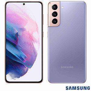 """Smartphone Galaxy S21 Violeta com Tela Infinita de 6,2"""", 5G, 128GB, Câmera Tripla de 12MP+64MP+12MP - SM-G991BZWJZTO - SGSMG991ZWBCO - Samsung"""