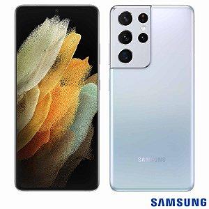 "Smartphone Galaxy S21 Ultra, com Tela Infinita de 6,8"", 5G, 256GB, 12GB RAM, Câmera quádrupla de 108MP (Wide) + 10MP (Zoom 3x) + 12MP (Ultra-Wide) + 10MP (Zoom 10x) - (SM-G991BZWJZTO - SGSMG991ZWBCO) Prata - Samsung"