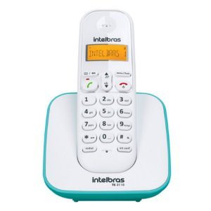 Telefone Sem Fio TS 3110 Com Identificador De Chamadas e Display Luminoso, Branco e Azul Claro - Intelbras
