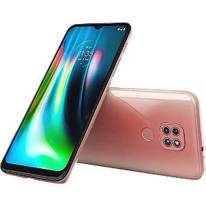 Smartphone Motorola Moto G9 Play 64gb 4g Wwi-fi Tela 6.5'' Dual Chip 4gb Ram Câmera Tripla + Selfie 8mp - Rosa Quartzo