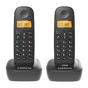 Telefone Sem Fio TS 2512 + Ramal, Com Identificador De Chamadas e Display Luminoso, Preto - Intelbras