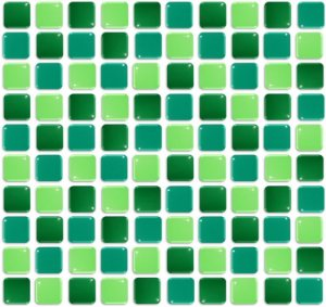 Pastilhas Adesiva Resinada, Placa 30cm, Verde Amazonas, Verde Bandeira e Verde abacate