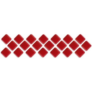 Pastilhas Adesiva Resinada, Faixa Diagonal, Cor Vermelho Intenso, Faixa 30x8cm
