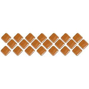 Pastilha Adesiva Resinada, Faixa Diagonal, Cores Especiais, Faixa 30x8cm