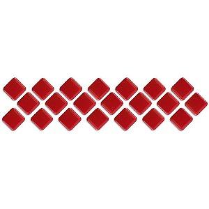 Pastilhas Adesiva Resinada, Faixa Diagonal, Cor Vermelha, Faixa 30x8cm