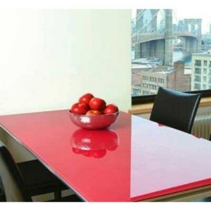 Adesivo para Envelopar Mesa de Vidro, Cor Vermelho - DW Decor