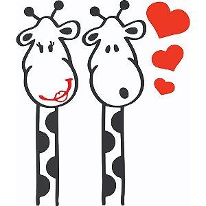 Adesivo Casal Girafa