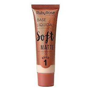 Base Líquida Soft Matte Nude - Ruby Rose
