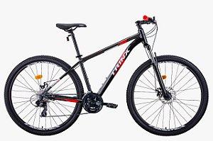 Bicicleta Trinx Alumínio Aro 29 M100 Max Freios Mecânico 24v - Preto/Vermelho