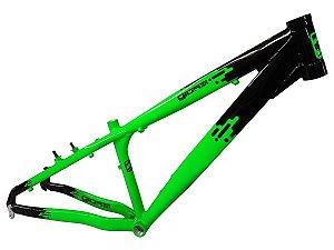 Quadro Gios FRX 13,5 Preto / Verde Neon - Cores - Giosbr