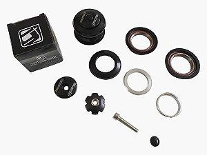 Caixa de Direção Giosbr GI-905 Semi-Integrada C/ Rolamento Alt 9,5mm 44mm Aço/Alumínio Preto