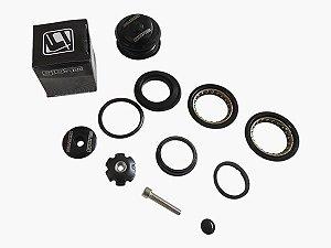 Caixa de Direção Giosbr GI-902 Semi-integrado Alt 11mm 44mm Aço/Alumínio Preto
