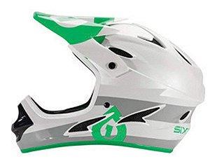 Capacete Comp Sixsixone Cinza/Verde