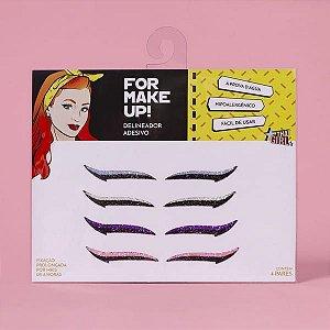 Delineador Adesivo For Make Up - 4 Pares