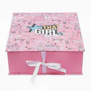 Caixa Rosa para Presente