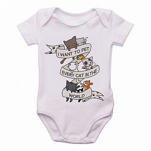 Bodie body Criança Infantil Roupa Bebê cat pet gato animais