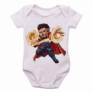 Body Bebê Roupa Infantil Criança Mini Doutor Estranho marvel