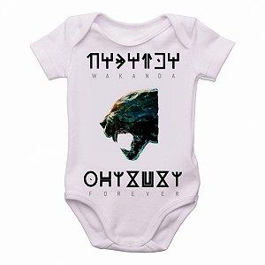 body Criança Infantil Roupa Bebê wakanda forever pantera