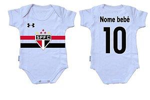 Body Bebê Roupa Infantil Criança Nenê São Paulo time futebol