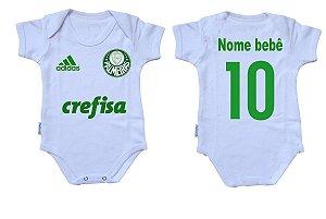 Body Bebê Roupa Infantil Criança Nenê Palmeira time futebol